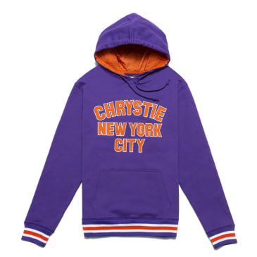 Chrystie NYC - Varsity logo pullover sweater_Purple