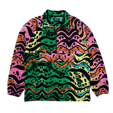 Rip N Dip Ripple Brushed Fleece Half Zip Jacket - Multicolour