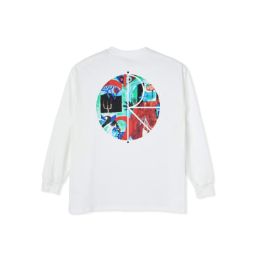 Polar Skate Co Moth House Fill Logo Long Sleeve T-Shirt - White