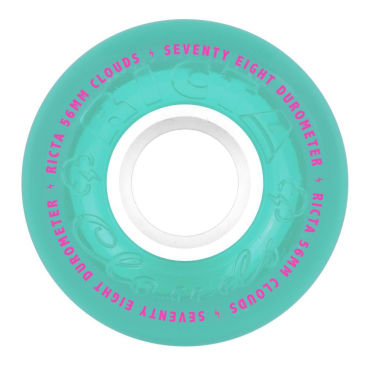 """Ricta """"Clouds"""" Wheels 78A Claer Teal 56mm"""