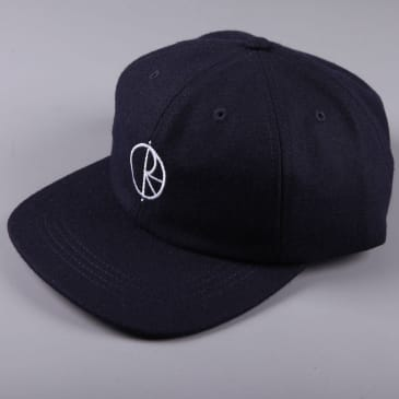 Polar 'Wool' 6 Panel Cap (Rich Navy)