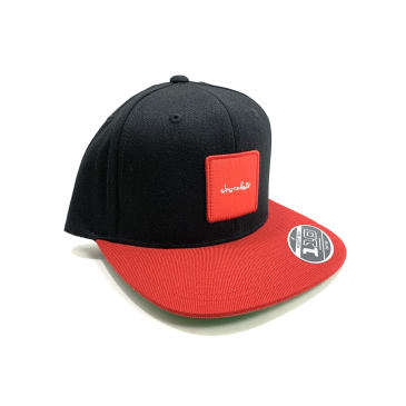 Chocolate Skateboards Red Square Patch Black Hat