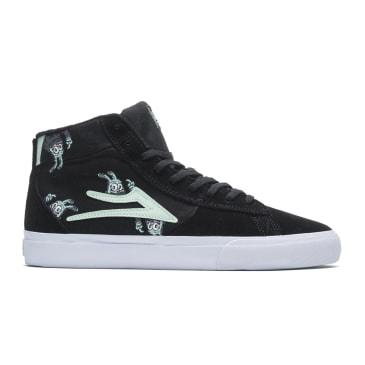 Lakai x Travis Millard Newport Hi Suede Skate Shoes - Black / Mint