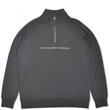 Pop Trading Company Lightweight Half Zip - Charcoal
