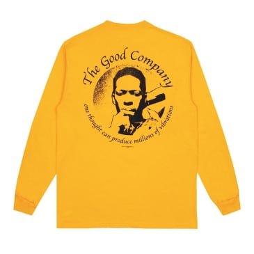 The Good Company Vibrations Long Sleeve T-Shirt - Gold / Black
