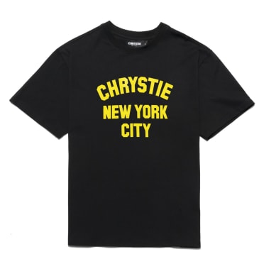 Chrystie NYC - Varsity logo T-shirt_Black