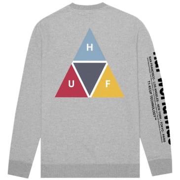 HUF Prism Crewneck Sweatshirt - Heather Grey