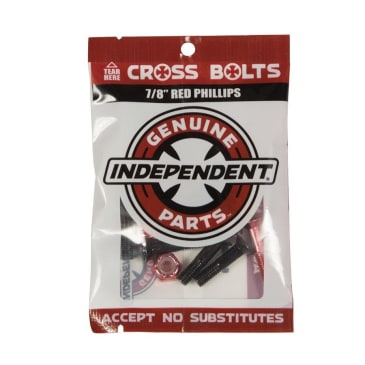 """Independent - Cross Bolts 7/8"""" Phillips Black/Red"""