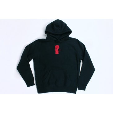 Orchard Hoodie Thoughts & Prayers Black Cross Weave