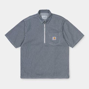 Carhartt Dash Short Sleeve Shirt - Blue / White