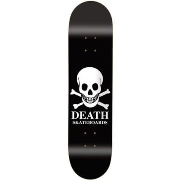 Death Skateboards OG Skull Black Skateboard Deck 8.125""