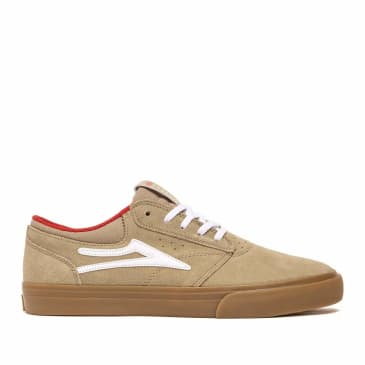 Lakai Griffin Skate Shoes - Tan / Gum