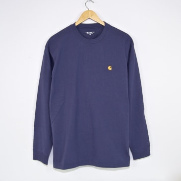 Carhartt WIP Chase Longsleeve T-Shirt - Cold Viola / Gold