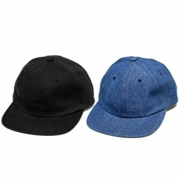 Hotel Blue Denim Arch Logo Cap - Black
