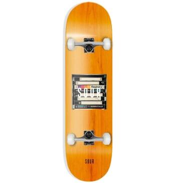 "Sour Solution - Box Logo VHS - Complete Skateboard - 8"""