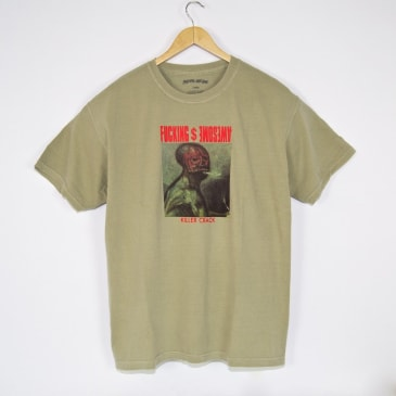 Fucking Awesome Killer Crack Pigment Dyed T-Shirt - Khaki