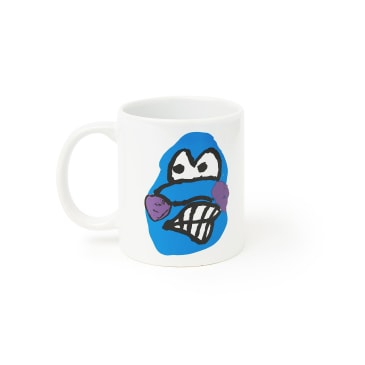 Polar Skate Co Dane Face Mug - White / Blue