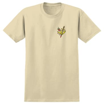 Krooked Skateboards Flash T-Shirt - Cream