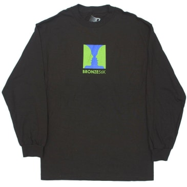 BRONZE THANKS FOR WATCHING L/S TEE - BLACK