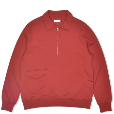 Pop Trading Company Heavyweight Sportswear Company Half-Zip - Pepper Red