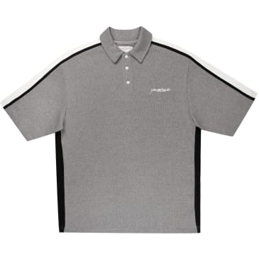 Yardsale - Courts V Neck Polo Shirt - Graphite