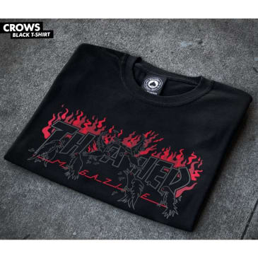 Thrasher Crows Shirt (Black / Red)