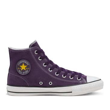Converse CONS CTAS Pro Hi Suede Shoes - Grand Purple / Vivid Sulfur