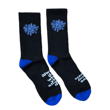 always do what you should do - black / blue @sun sock