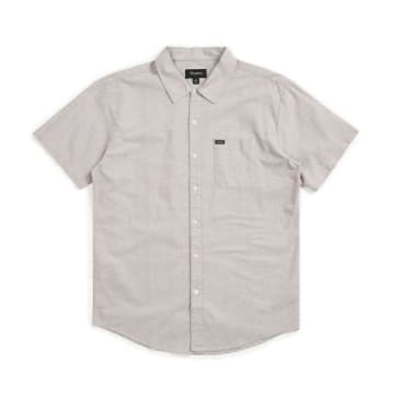 Brixton Charter Oxford Button Down Grey