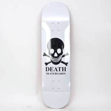 "Death Skateboards - 8.375"" OG Skull Deck (White)"