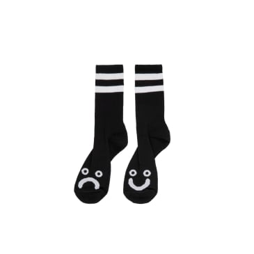 Polar Skate Co Happy Sad Socks - Black