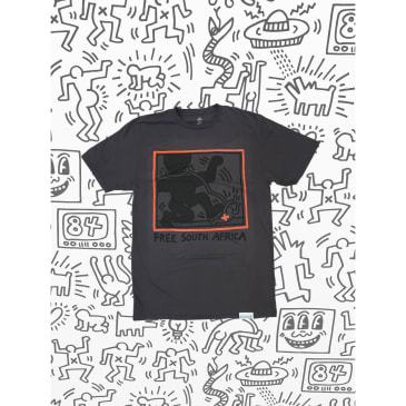 DIAMOND X HARING SOUTH AFRICA TEE - CHARCOAL