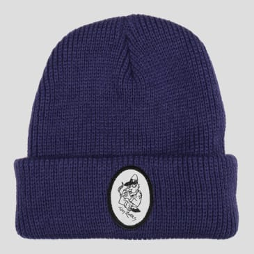 """PASS~PORT TOBY ZOATES """"COPPERS"""" BEANIE NAVY"""