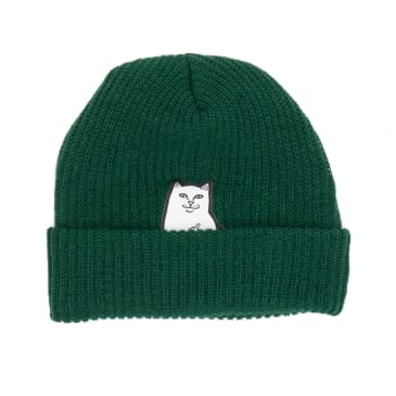 Rip N Dip Lord Nermal Rib Beanie - Hunter Green