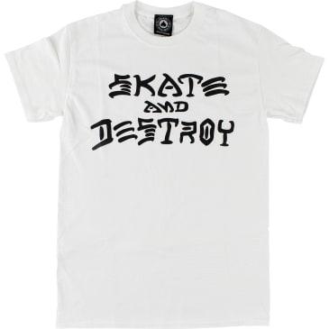 Thrasher Skate and Destroy Tee (White)