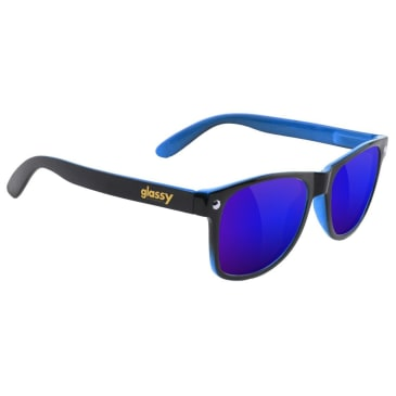 Glassy Leonard Sunglasses - Black / Blue / Blue Mirror