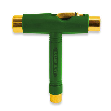 Shake Junt Skateboarding T Tool - Green/Gold
