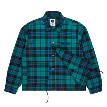 Polar Skate Co. Plaid Work Jacket Peppermint Green