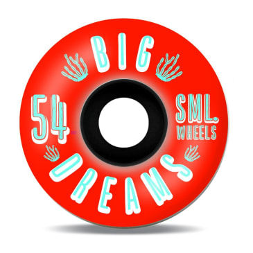 Sml Wheels Succulent Cruiser Fire Water 54mm 92a