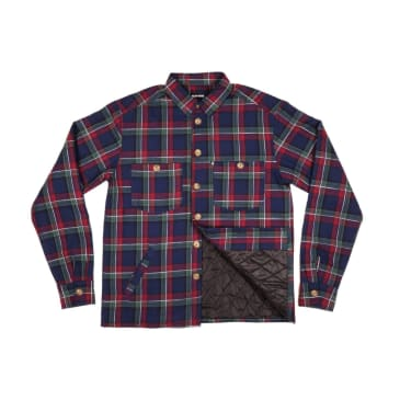 Pass~Port Skateboards - Late Quilted Flannel Jacket - Navy