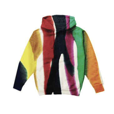 "CHINATOWN MARKET - ""TIE DYE STRIPED HOODIE"" (MULTICOLORED)"