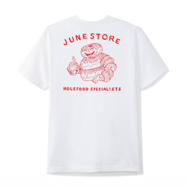 "June - ""Hole Food Specialists"" Mens Tee - White, Red"