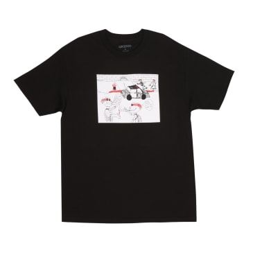 GX1000 Fuck Pizza T-Shirt - Black