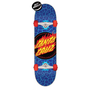 "Santa Cruz ""Flame Dot"" Complete Skateboard 7.5"""