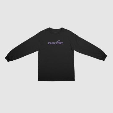 Pass~Port Lavender Long Sleeve T-Shirt - Black