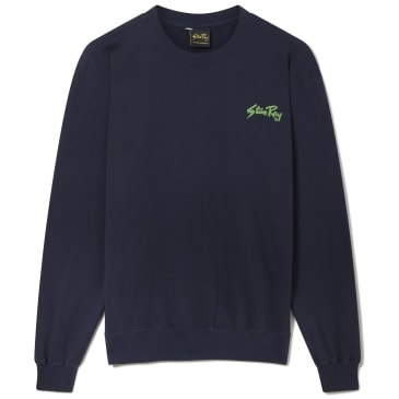 Stan Ray Stan Crew Sweat - Navy / Green Print
