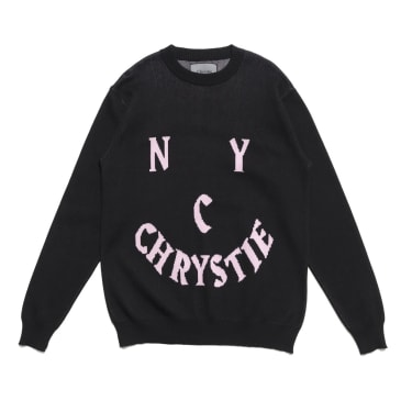 Chrystie NYC - Smile Logo Knit Sweater_Black
