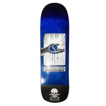 Death Skateboards Zarosh Hand Screened Heart Blue Skateboard Deck - 9.00