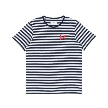 Makia Shore T-Shirt - Navy/White