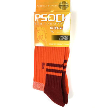 Psockadelic Ultra Ribbed Performace Socks Rough Red